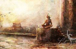 Obraz - Indie - płótno - malowany, orientalny