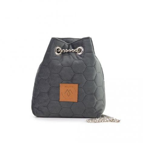 Mały worek Mili Glam Bag 2 - szary