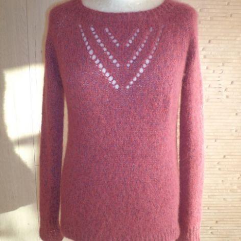 Sweter alpaka z jedwabiem unikalny kolor