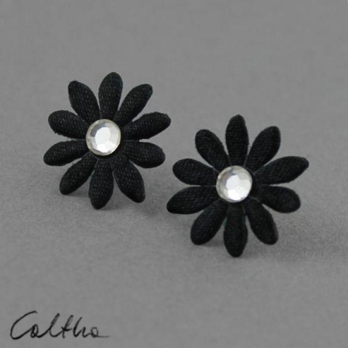 Kwiatuszki z kryształkiem - kolczyki - Kolczyki kwiatki
