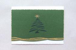 Zielona kartka z choinką