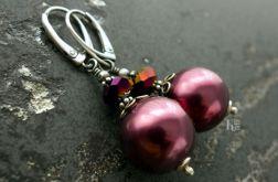 Zosma - srebrne kolczyki z perłą