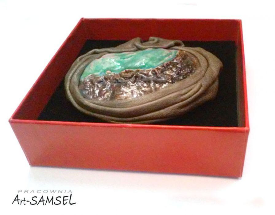 Broszka ceramiczna SKALISTY BRZEG