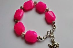 różowa bransoletka