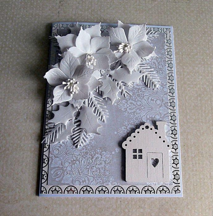 Kartka w bieli - Kartka na leżąco