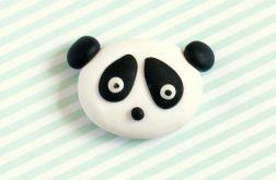 PANDA broszka przypinka z modeliny