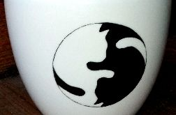 Kocie JING JANG - kubek Lubiana, 1 litr