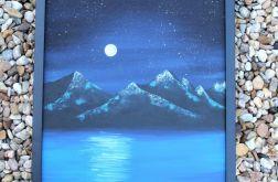 Góry nocą - akryle na płótnie