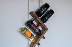 Półka na wino i kieliszki z drewna