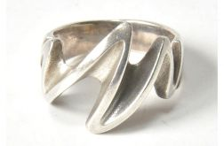 75 pierścionek vintage, srebrny, oryginalny,