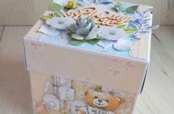 Exploding box prezent narodziny chrzest GOTOW