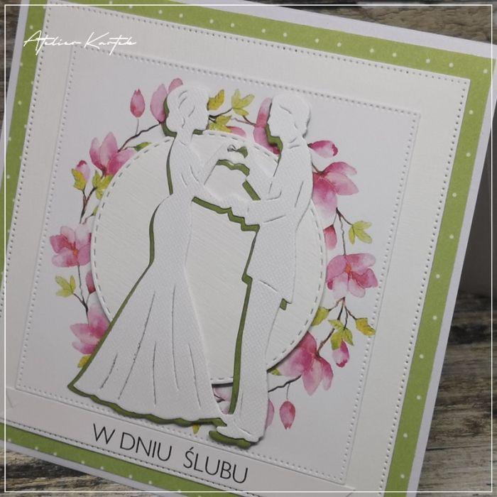 Kartka z Młodą Parą - kartka slubna handmade
