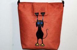 Zabawna torebka listonoszka z kotkiem