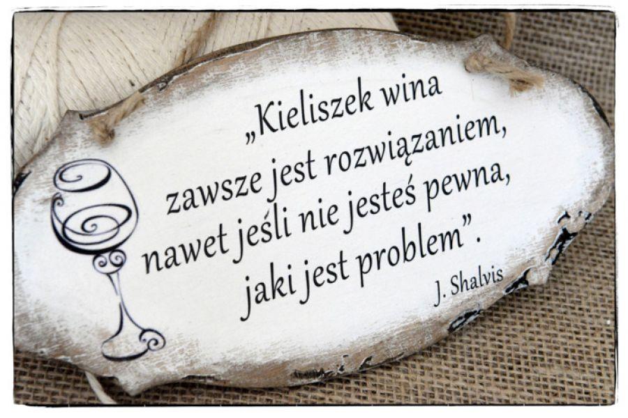 Szyld Tabliczka z napisem ~Kieliszek wina~ -