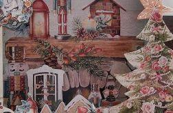 Shadow box świąteczny z choinką