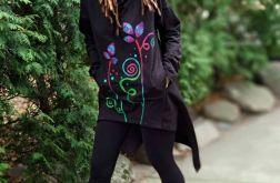 Bluza ASYMETRIA czarna z szalokapturem