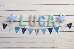 Komplet literki bawelniane *LUCA*