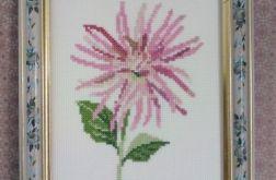 Jesienna dalia - obrazek haftowany