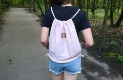 Worek /plecak pudrowy róż
