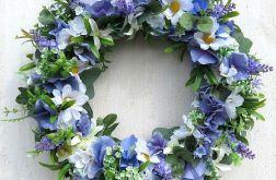 Wianek kwiatowy Błękitny dzień