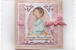 Kartka na Chrzest dla dziewczynki