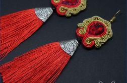La Reina – czerwone kolczyki sutasz chwost