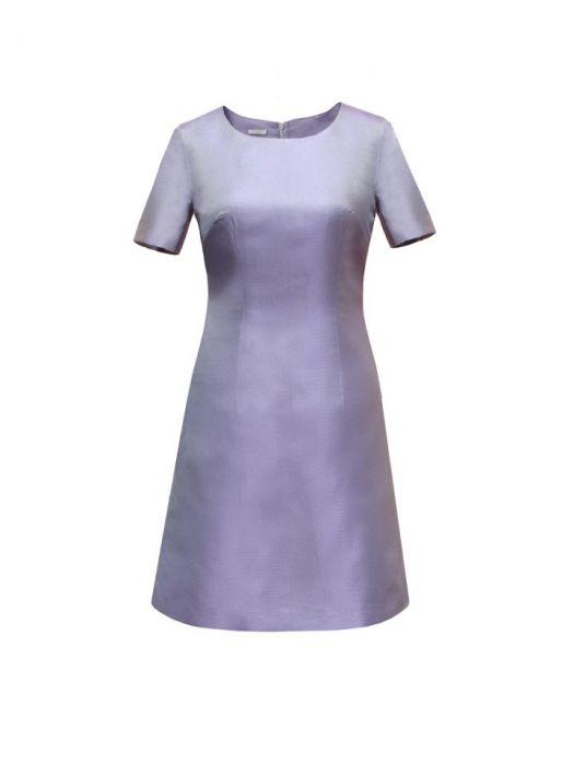 koktajlowa sukienka LILIJANA - jedwabna tafta