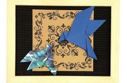 Obrazek origami ścienny do powieszenia Ptaki