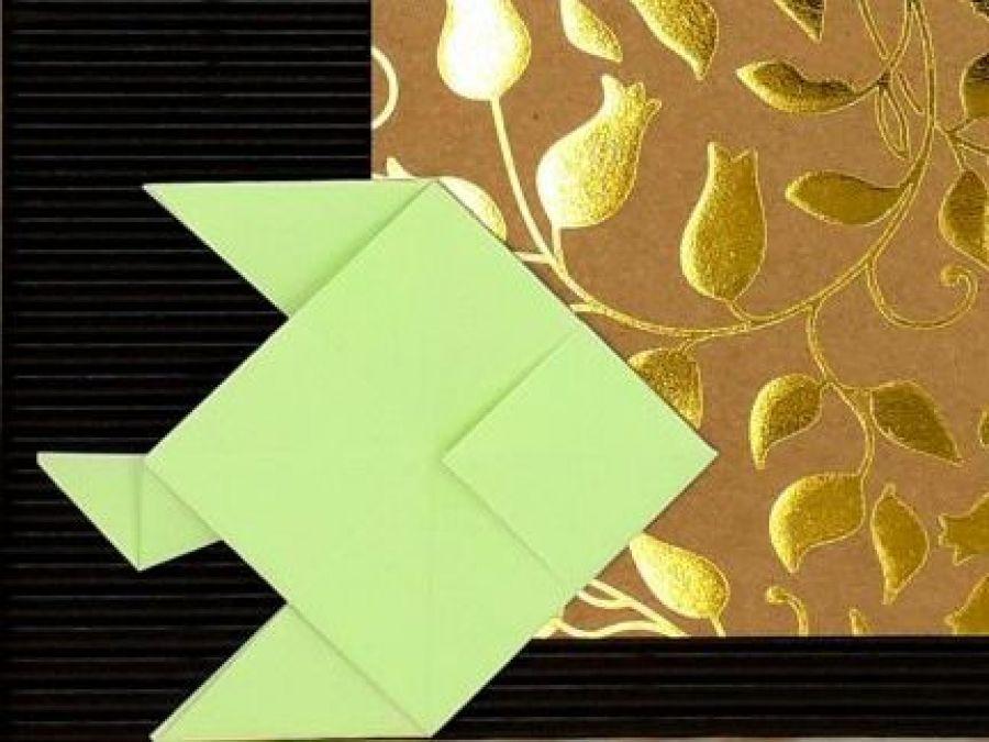 Obrazek origami w ramce do powieszenia Ryby - Zbliżenie1