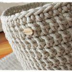 Koszyk ze sznurka bawełnainego -