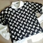 Czarna szydełkowa bluza, wdzianko