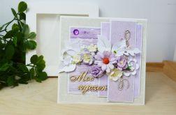 Kwiecista kartka Moc życzeń