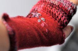 rękawiczki mitenki z kaszmiru