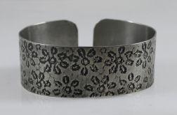 Metalowa bransoleta - kwiatuszki 171029-06