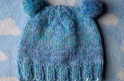 Zimowa czapka pastel niebieski