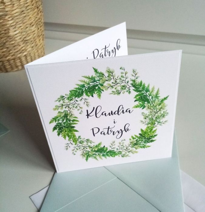 Zaproszenie ślubne  - paprotka02