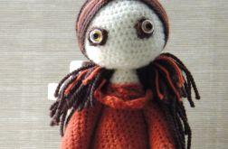 Lalka szydełkowa- Hania ceglana