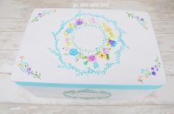 Kuferek ręcznie malowany RUSTIC FLOWERS II