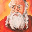 Żyd liczący pieniądze III    pastela