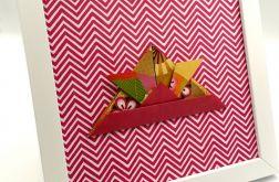 Obrazek origami na ścianę Czapka samuraja