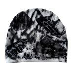 Czapka Rock czarno-biała