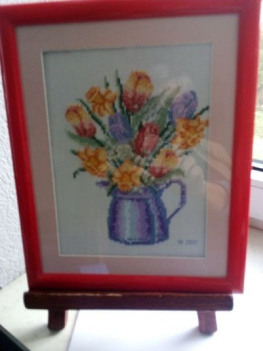 Haftowane tulipany