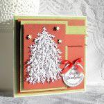 Kartka bożonarodzeniowa z choinką