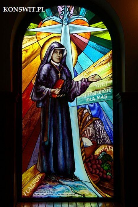 Witraże  sakralne figuralne - Św.Siostra Faustyna