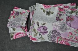 Podkładki pod kubki róże i pocztowe emblematy - 4 sztuki