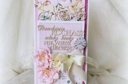 Kartka ślubna z bryczką