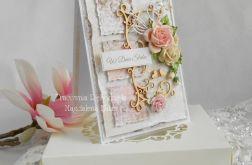 Ślubna kartka A6 w pudełku z okienkiem 02