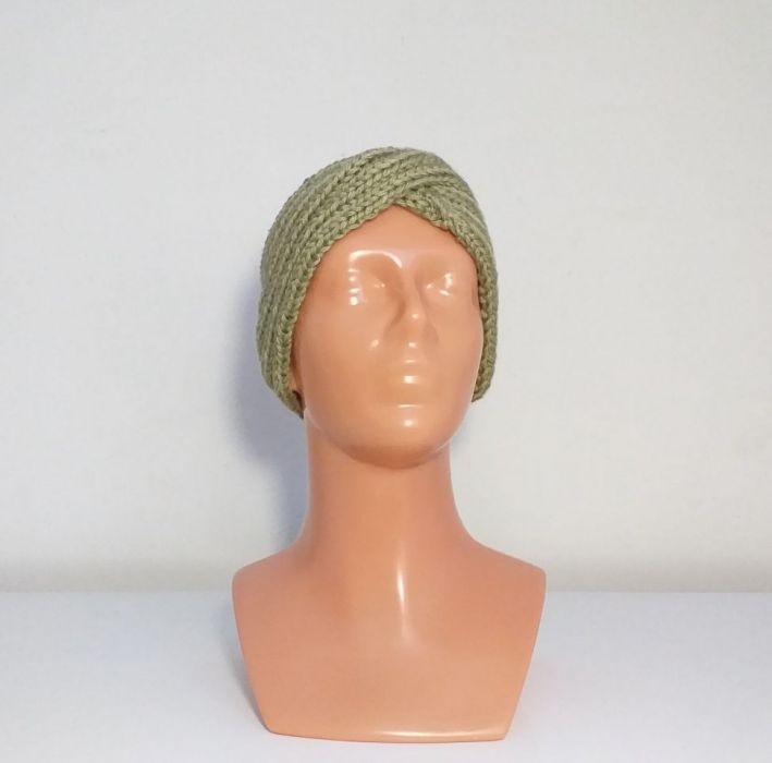 Zielona opaska na głowę