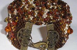brązowy melanż peyote