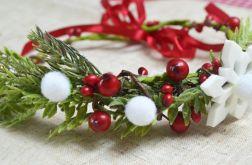 Zimowo-świąteczny wianek